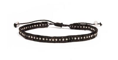 Love Light Beaded Bracelet - Black