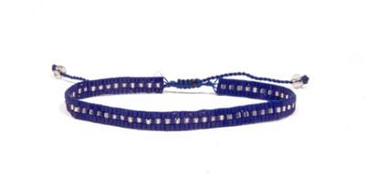 Love Light Beaded Bracelet - Navy