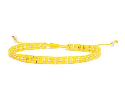 Love Light Beaded Bracelet - Yellow