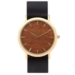 Makore Classic Watch, Black Strap