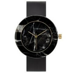 Marble Circle Mason Watch, Black, Black
