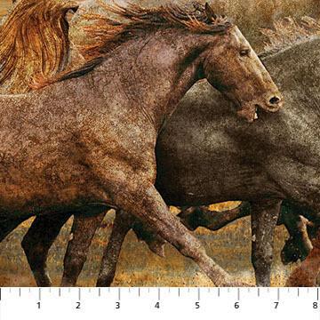 Rust Mullti Wild Horses