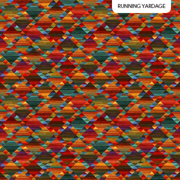 Mountain Vista Red Multi Diamonds