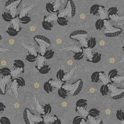 Gray Geishas Digital Print