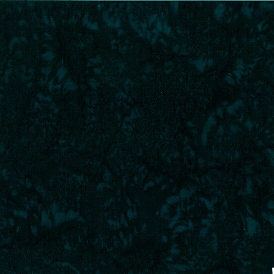 Deep Emerald Watercolor Batik