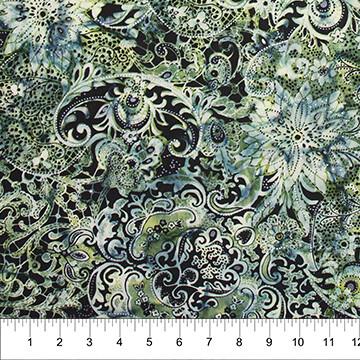 Lustre Green Batik