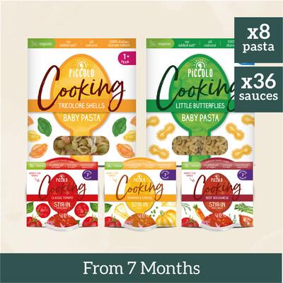 8x Baby Pastas & 36x Sauces