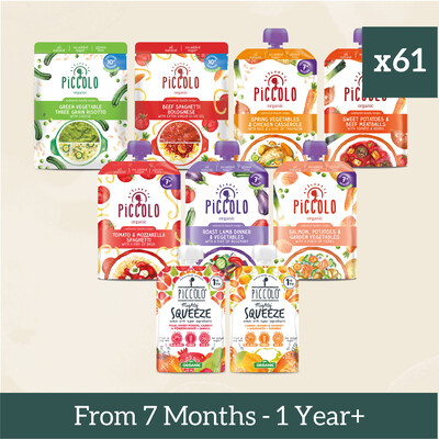 61x Complete Baby Meals from 7 months to 1+ Year