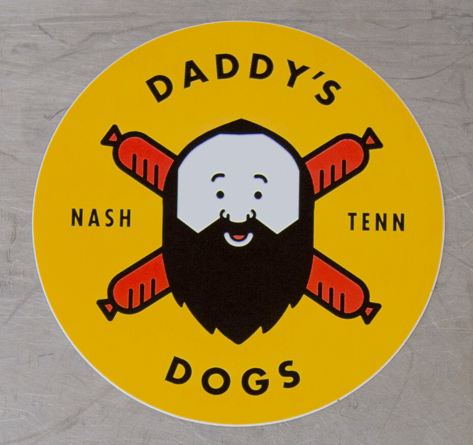 DADDY'S DOGS Sticker