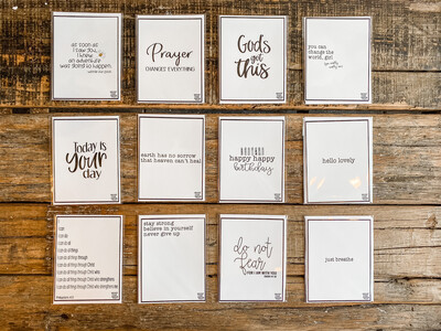 NOTECARDS-BROWN CRAFT W/MISC. SAYINGS