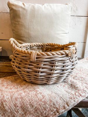 ROUND WOVEN BASKET- SMALL