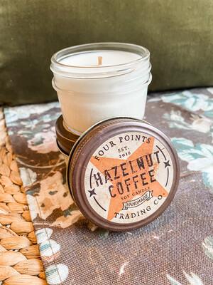 HAZELNUT COFFEE- SOY CANDLE 4 OZ.