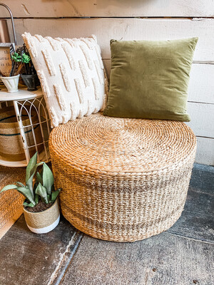 WATER HYACINTH & SEAGRASS POUF