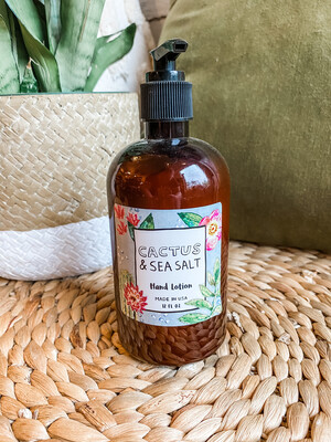 CACTUS & SEA SALT HAND LOTION W/PUMP
