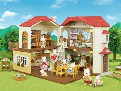 Puppenhaus: Stadthaus mit Licht