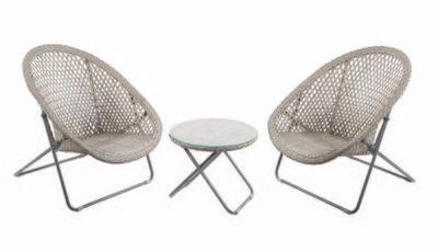 Folding Low Chair Bistro Set