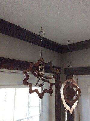 Ancient Graf Flamed Star burst Dragonfly Ornament