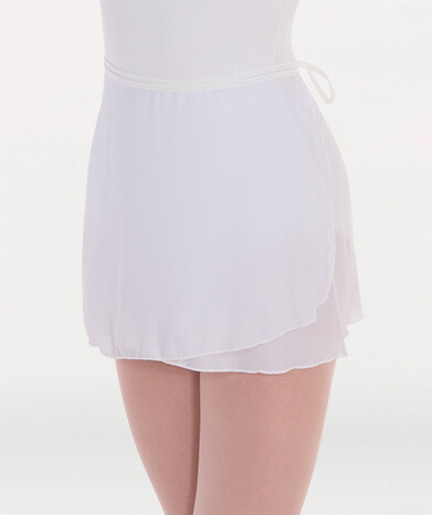 """Body Wrappers 990 15"""" Wrap Skirt - White A Small Petite"""