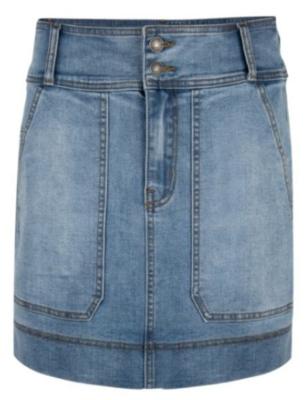 Big Pockets Jean Skirt