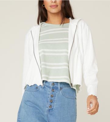 Ivory Zip-Front Jacket