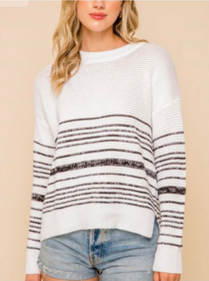 White Stripe Sweater