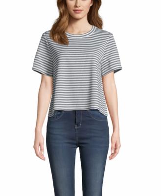 Navy Stripe Top