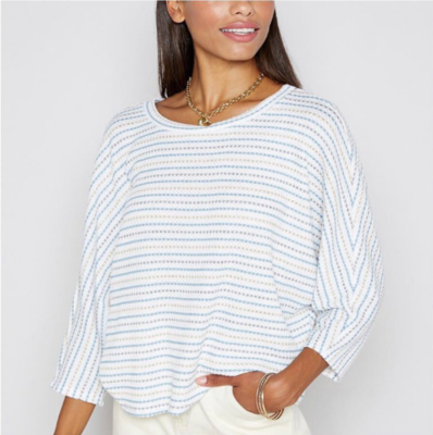 Ivory/Blue Stripe Sweater