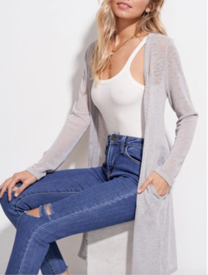 Silver Duster Cardigan