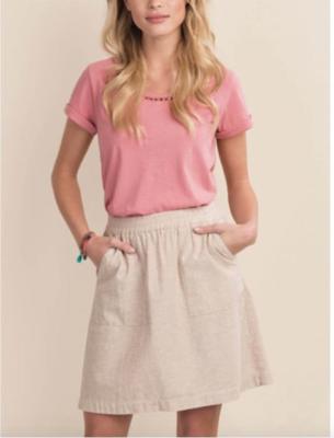 Mocha Linen Skirt