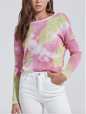 Tie-Dye Twist Sweater