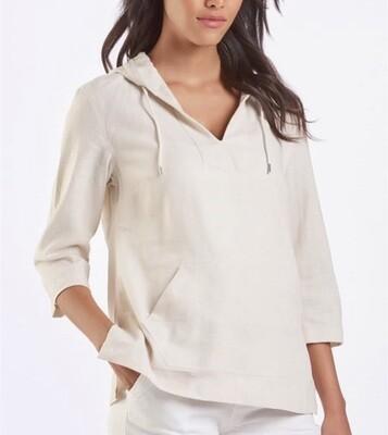 Cream Linen Pullover