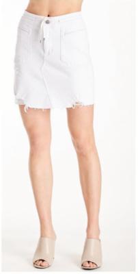 White Cargo Skirt