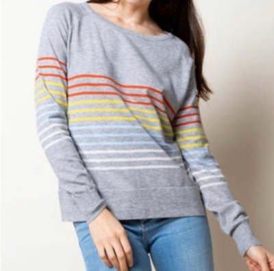 Grey Multi Stripe Sweater