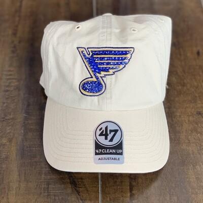 Beige '47 Hat W/ Blue Crystal