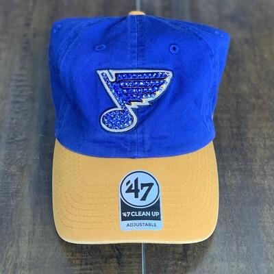 Blue/Yel '47 Hat W/ Blue Crystal