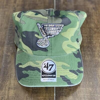 Camo '47 Hat W/ Grey Crystal