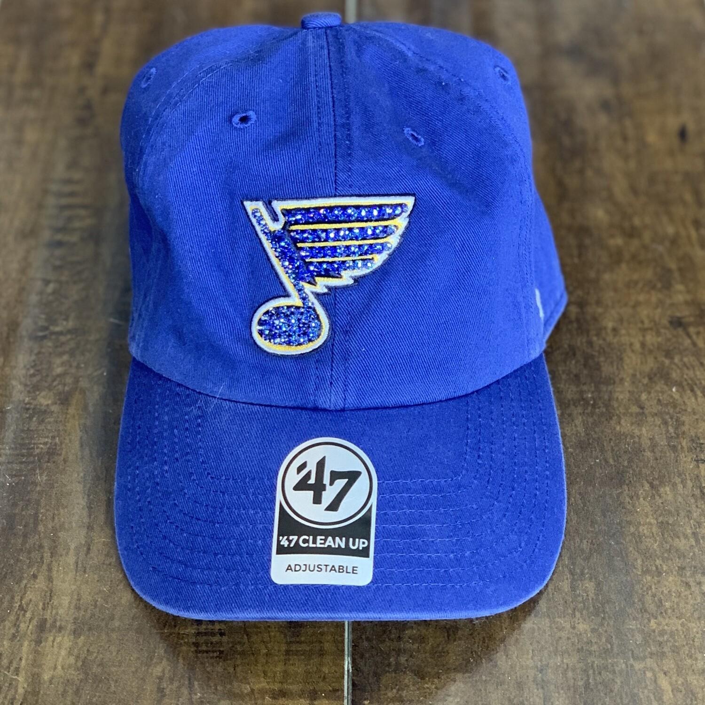 Blue '47 Hat W/ Blue Crystal