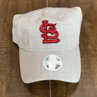 Wool New Era Hat W/ Red Crystal