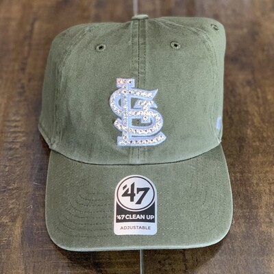 Olive '47 Hat W/ Clear Crystal