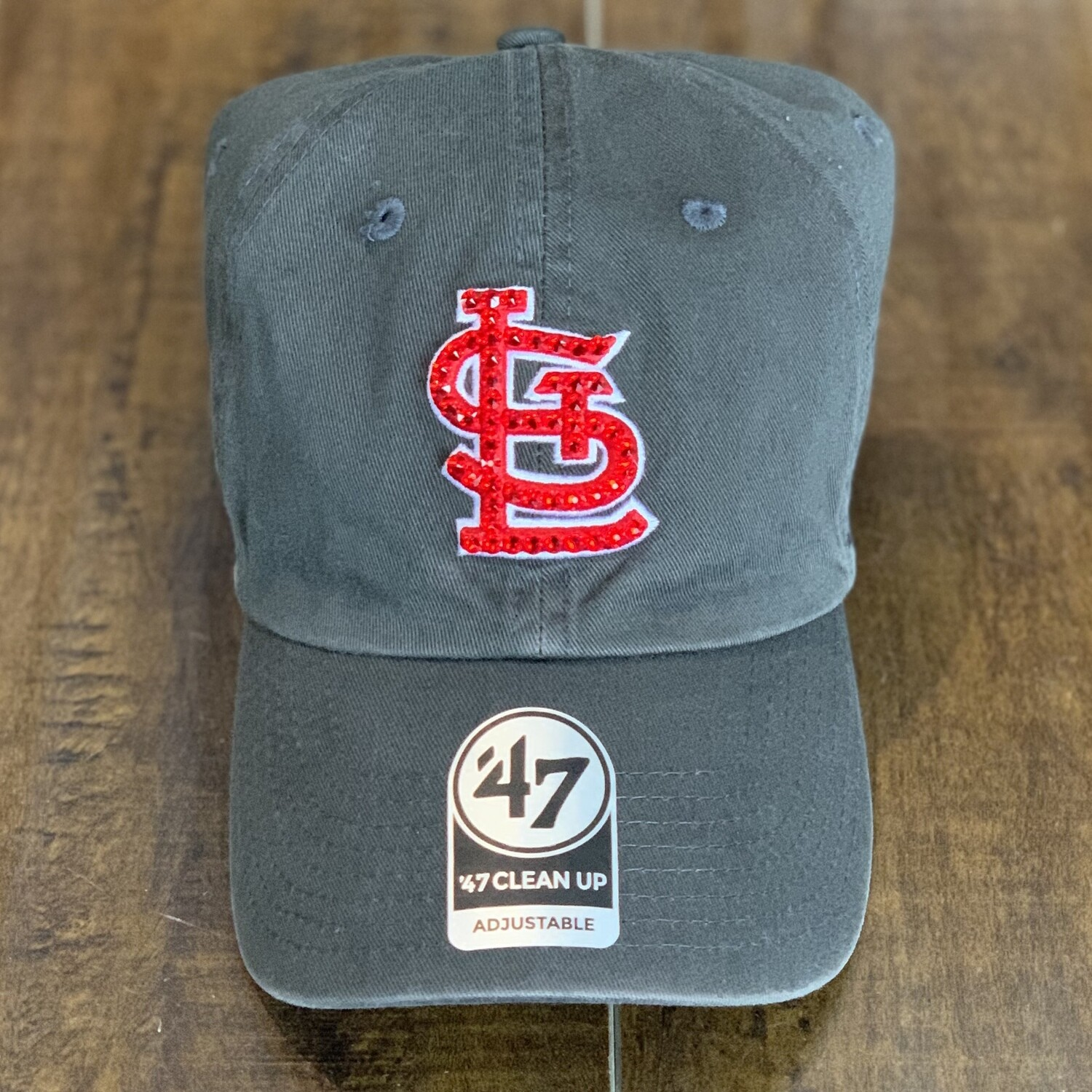 Charcoal '47 Hat W/ Red Crystal