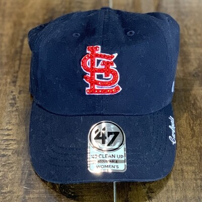 Navy '47 Hat W/ Red Crystal