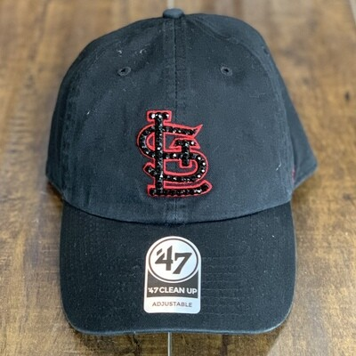 Blk. '47 Hat W/ Black Crystal