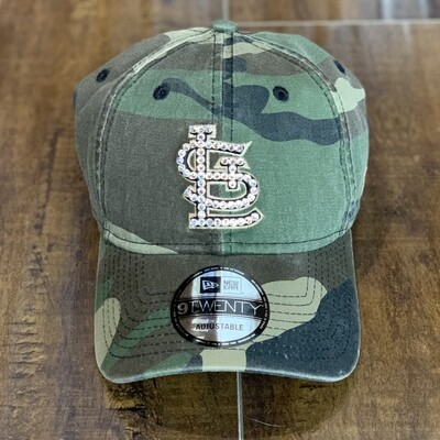 Lt.Camo New Era Hat W/ Clear Crystal
