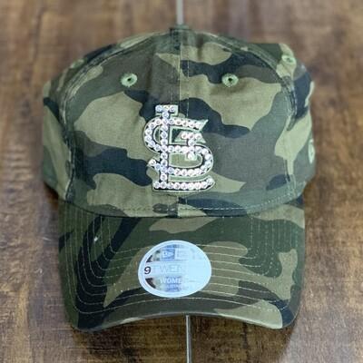 Camo New Era Hat W/ Clear Crystal
