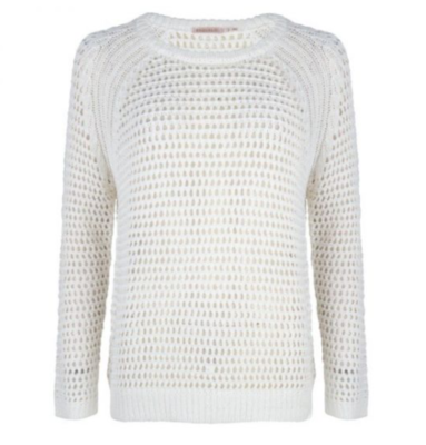Natural Open-Weave Sweater