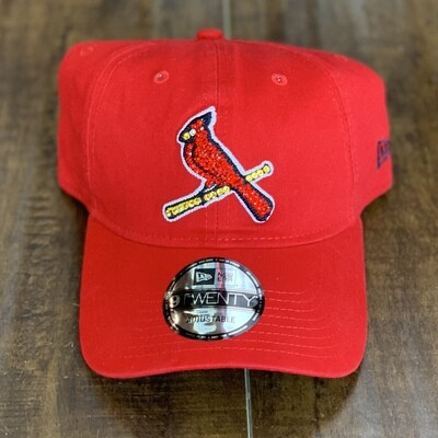 Red Bird New Era Hat  W/ Red Crystal