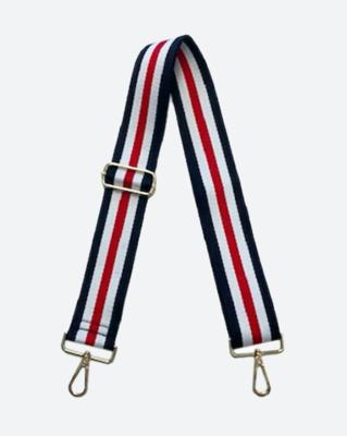Red/Navy Stripe Guitar Strap