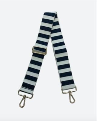 Navy/White Stripe Guitar Strap