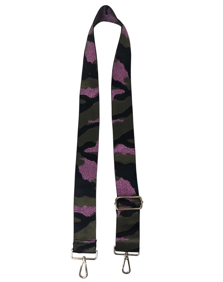 Purple Camo Guitar Strap