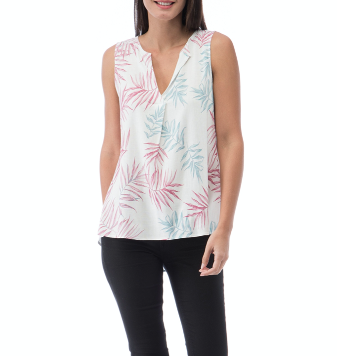 Palms Pleat-Back Tank